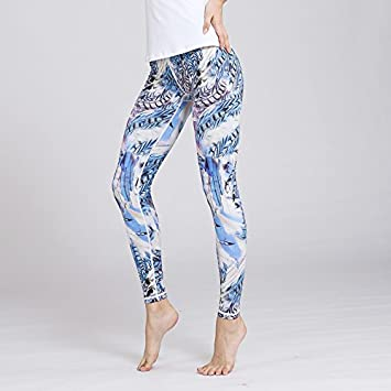 JIALELE Pantalon Yoga Feather Pantalones De Yoga De Secado ...