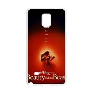 Samsung Galaxy Case Nota 4 cubiertas blancas Disney La Bella y la Bestia de protección personalizada caja del teléfono I7Y1QI