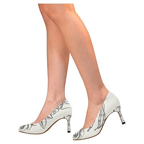 Zapatos De La Bomba Del Vestido Del Alto Talón De La Moda Clásica De Interestprint Para Mujer Multi 3