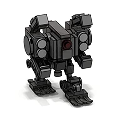 ECLENYES 75Pcs STEM MOC Mini Mecha Model Small Particle Building Blocks Educational Toy Set - Dark Grey(The Product is not Made and Sold by Lego and has no Connection with Lego): Home & Kitchen
