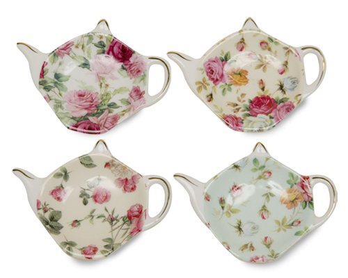 Rose Chintz 4-Inch Tea Bag Holder
