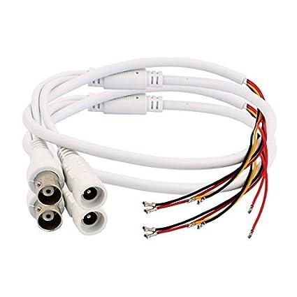 eDealMax 2pcs de alimentación de CC 5 Wire 2.1x5.5mm BNC Gato femenino del