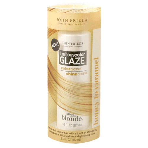 John Frieda Sheer Blonde Luminous Color Glaze, Honey to Caramel, 6.5-Ounce Bottle (Pack of 4) by John Frieda