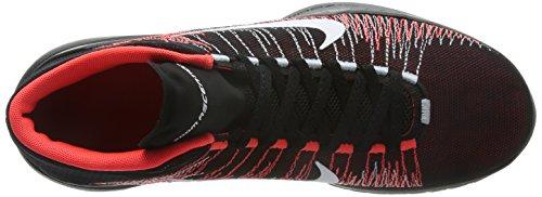 Nike Zoom Ascention Mens Scarpe Da Basket Nero Cremisi Brillante Bianchi