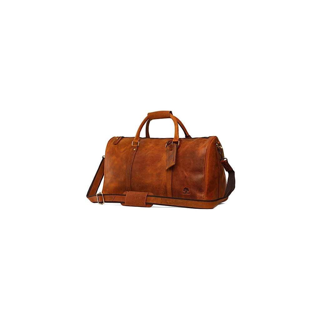 Leather Duffel Bags For Men – Airplane Underseat Carry On Luggage By Rustic  Town 477a99b793dde