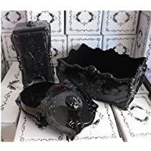 Anna Sui style make up storage boxes ( 1 makeup brush holder,1 jewelry case and 1 cotton pads box)