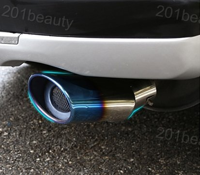 New 1pcs Stainless Steel Tailpipe Exhaust Muffler Tail Pipe Tip Extension Pipes End Pipes Blue Color Custom Fit