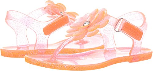 Carter's Girls' Selena T-Strap Jelly Sandal, Orange, 6 M US (Orange Kids Sandals)