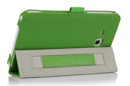 ProCase Samsung Galaxy Tab 3 Lite 7 Tablet Case with Bonus Stylus Pen - Tri-Fold Smart Cover Case for Tab 3 Lite 7.0 inch, SM-T110 (Green)