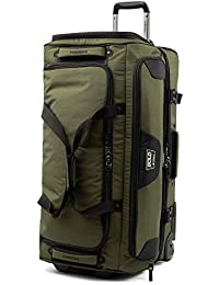 Bold-Drop Bottom Wheeled Rolling Duffel Bag