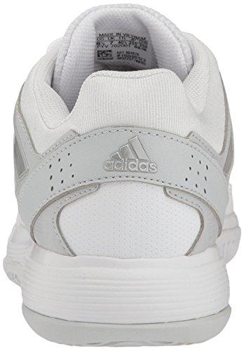 adidas Damen Barricade Court Tennisschuhe Weiß / Metallic Silber / Medium Grey Heather
