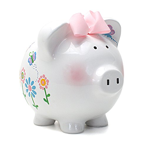 Child to Cherish Ceramic Piggy Bank for Girls, -