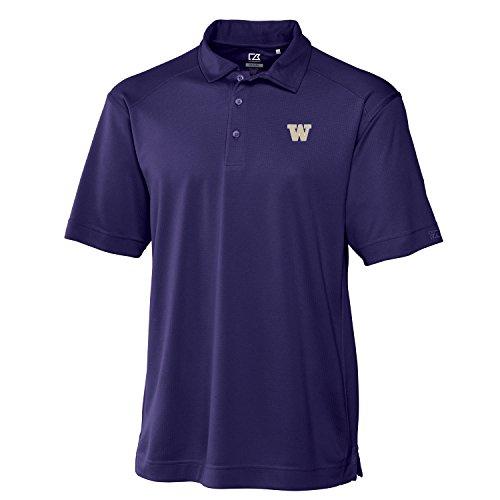 NCAA Washington Huskies Men's CB DryTec Genre Polo Tee, College Purple, Medium - Washington Huskies Ncaa Tee