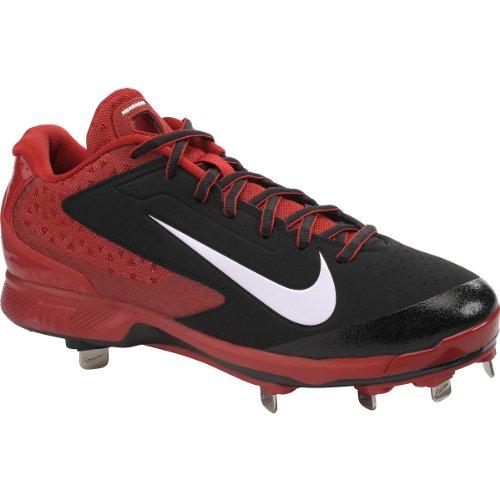 Tacchetti Da Baseball In Metallo Basso Nike Mens Huarache Pro - Misura: 9, Nero / Rosso