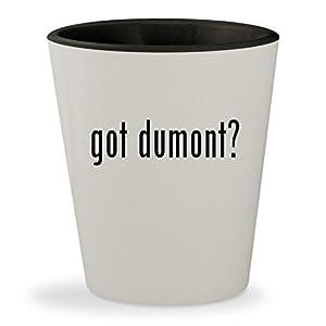 got dumont? - White Outer & Black Inner Ceramic 1.5oz Shot Glass