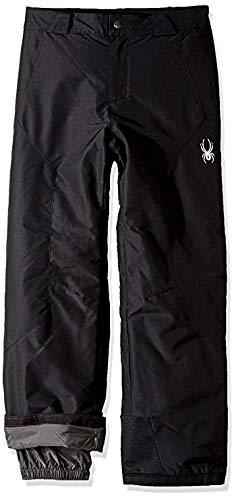 Spyder Boy's Siege Ski Pant, Black, Medium