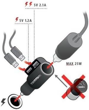 En Coche Cargador Cable Lead Para TomTom Go 6000 5000 600 400 GPS SAT NAV