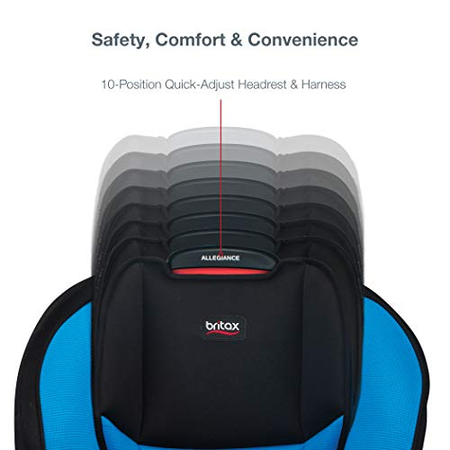 41TKODaV cL - Britax Allegiance 3 Stage Convertible Car Seat | 1 Layer Impact Protection - Rear & Forward Facing - 5 To 65 Pounds, Azul