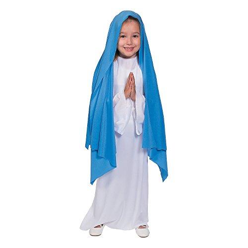 Blue & White Mary Girls Halloween Costume ()