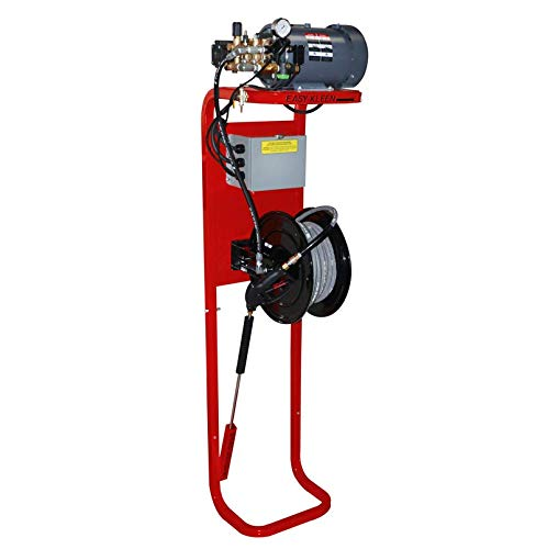 Easy-Kleen FD2435E-GP Firehouse System Pressure Washer, 3.5 GPM, 2400 psi, 5 hp, 220V/1 Phase, 1750 RPM, Red