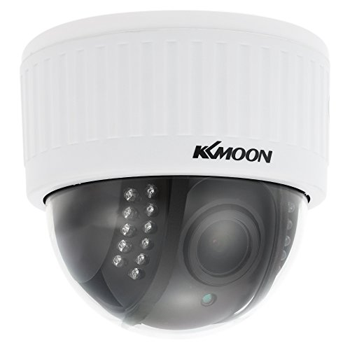 "Manual Varifocal Lens (KKmoon 1080P Wireless WIFI Dome PTZ HD IP Camera 2.8~12mm Auto-Focus Manual Varifocal Zoom Lens 2.0MP 1/3"" CMOS 22pcs IR Lamps IR-CUT Night Vision Phone APP Control Motion Detection for Home Security)"