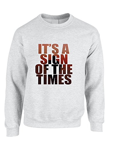 (Allntrends Adult Sweatshirt It's A Sign Of The Times Styles Cool Sweatshirt (XL, Ash))