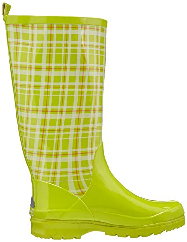 Playshoes Womens Trendiger Damen Gummistiefel Karo Snow Boots Green NtCh8mIUZN