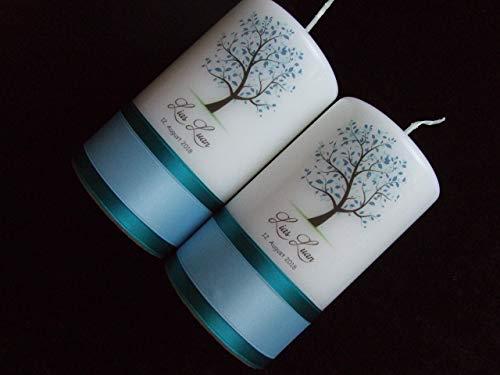 Patenkerzen Lebensbaum 13 X 7 Cm Geschenk Für Paten Zur