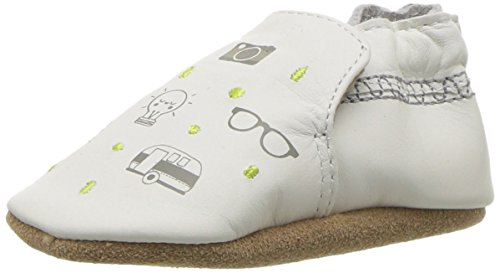 Robeez Boys' Puppy Love Crib Shoe, Random Icons Cream, 0-6 Months M US Infant
