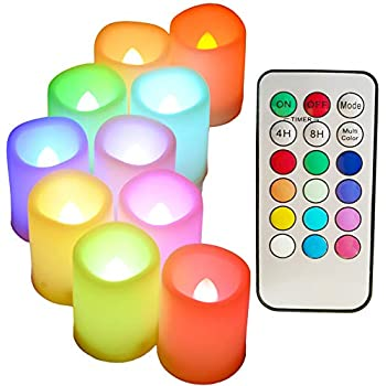 Amazon Com Flickering Battery Operated Color Changing