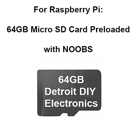 Preloaded Micro Sd Card for all Raspberry Pi Models (64GB Micro with Adapter,