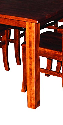 Aspen Tree Interiors Amish Made 9 Piece Solid Wood Cherry Kitchen Dining Room Table for 6 Set - Heirloom Furniture for…