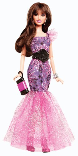 Barbie Fashionistas in The Spotlight Gown Doll, Purple]()