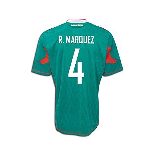 下手絡み合い水Adidas R. Marquez #4 Mexico Home Soccer Jersey 2010/サッカーユニフォーム メキシコ ホーム用 背番号4 R. マルケス