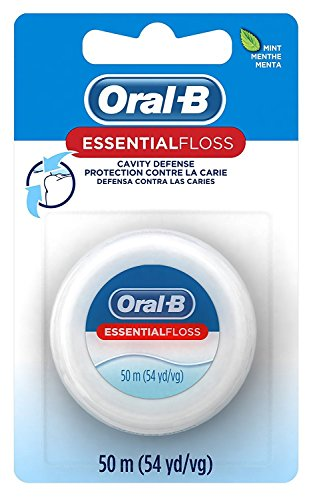 Oral-B 54 Yards Floss Essential Mint Wax (6 Pack)