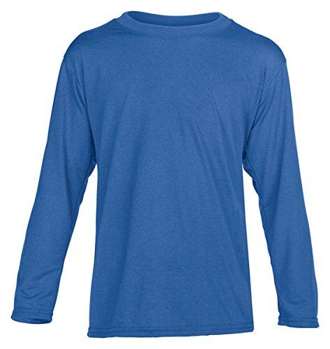 Gildan Youth 4.5 oz. Performance Long-Sleeve T-Shirt, Royal,
