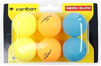 uego de 6 pelotas de tenis de mesa para exteriores Hi-Vis Outside Ping Pong Balls de alta visibilidad, brillo de neón, resistente al viento, resistente a las inclemencias del tiempo