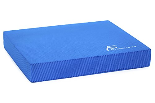 "ProSource ps-1037-bp-r-blue Exercise Balance Pad - Non-Slip Cushioned Foam Mat & Knee Pad for Fitness & Stability Training, Yoga, Physical Therapy 15.5"" x 12.5"", Blue"