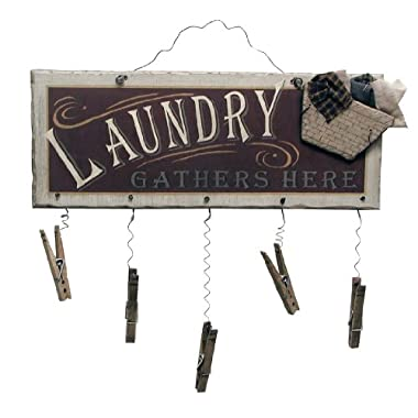 Ohio Wholesale Clothespin Laundry Sign Wall Art, from our Laundry Collection