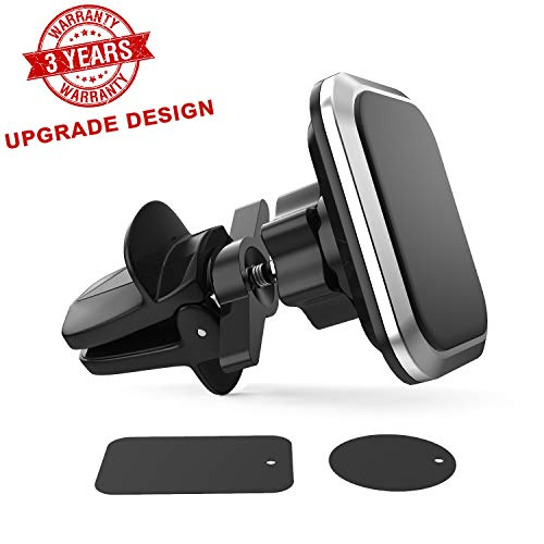 Magnetic Phone Car Mount,Larger and Stronger Magnet Upgraded Support Wing to Ensure Stability Universal Air Vent Magnetic Car Mount,Car Phone Holder Fit iPhone Galaxy Google Nexus Any - Mount Support
