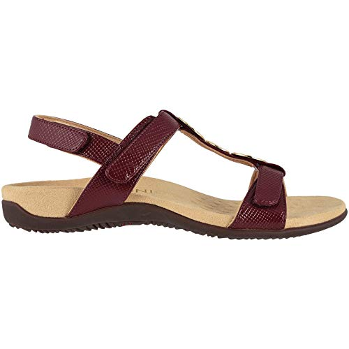 Vionic Women's Rest Farra Backstrap Sandal - Ladies Adjustable Sandals with Concealed Orthotic Support Fig Lizard 8 W US