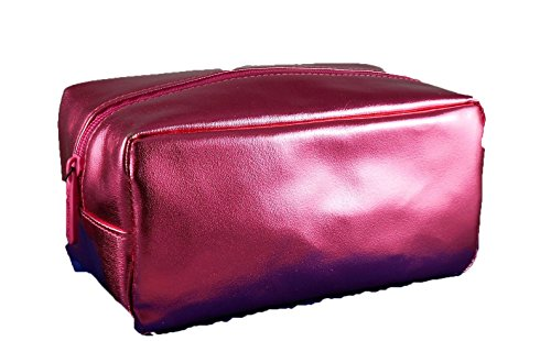 Bare Minerals Escentuals Metallic Pink Faux Leather Large Cosmetic Makeup Bag (Bare Minerals Makeup Bag)