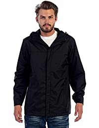 Gioberti Men's Waterproof Rain Jacket, Black, S