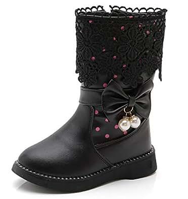 Amazon.com | DADAWEN Girl's Waterproof Lace Bowknot Side