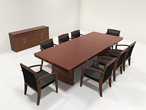 Modern Traditional Rectangular 10' Feet Office Conference Table, RO-SOR-C3