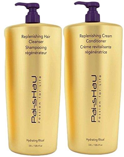 Pai Shau Replenishing Cleanser Shampoo & Cream Conditioner Set - GALLON by PAI SHAU