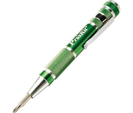 Destornillador de bolsillo, 9 puntas intercambiables - Calidad garantizada.