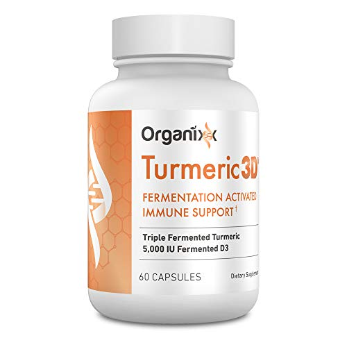 Turmeric 3D by Organixx - Tumeric Curcumin Supplement Made with Real Tumeric Powder Organic. Tumeric Capsules for Better Immune Support