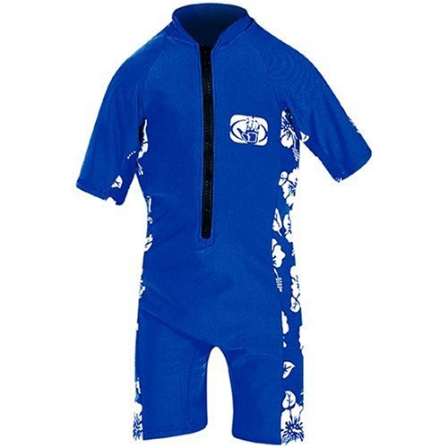 JetPilot Body Glove Pro 2 Lycra Childs Springsuit (Royal/White/Floral, Large)