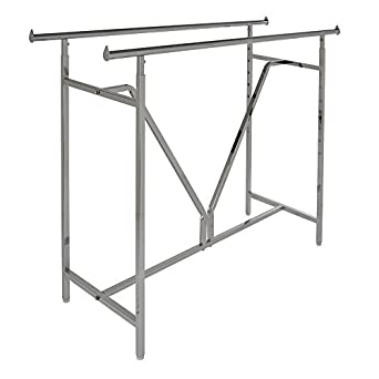 Econoco Adjustable Heavy Duty | Double Bar Rectangular Rack with V-Brace